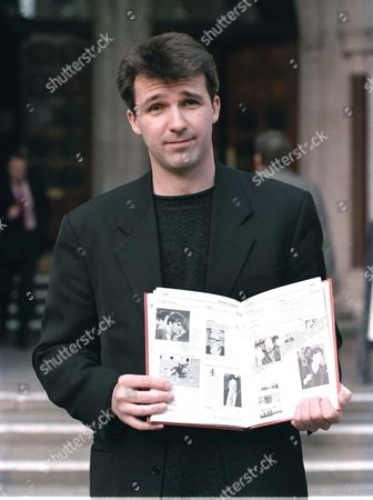 """Editorial photo of COLIN SWASH LEAVING COURT AFTER WINNING CASE AGAINST RUPERT ALLISON OVER THE """"HAVE I GOT NEWS FOR YOU"""" BOOK , LONDON, BRITAIN - 1998"""