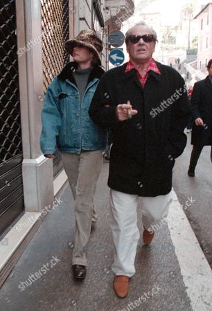 JACK NICHOLSON WITH REBECCA BROUSSARD IN ROME