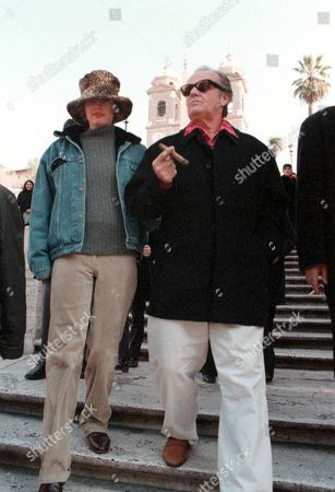 Editorial picture of JACK NICHOLSON & WIFE REBECCA BROUSSARD IN ROME, ITALY