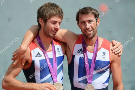 August 4th.2012. London. Olym Games. Eton Dorney. Rowing  Gb Mens Double Sculls Wins Silver With Zac Purchase And Mark Hunter.