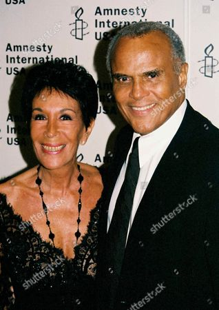 Stock Photo of Julie Robinson and Harry Belafonte
