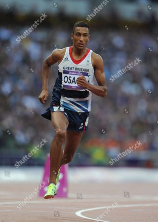 Editorial Use Only This Material Is Provided Under The Terms Of The 2012 Nopp Agreement. Mandatory Credit Must Be Observed London 2012 Olympic Games Olympic Stadium 800m Final Men Great Britains Andrew Osagie.