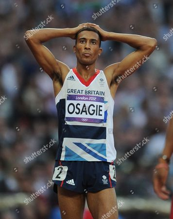 Editorial Use Only This Material Is Provided Under The Terms Of The 2012 Nopp Agreement. Mandatory Credit Must Be Observed London 2012 Olympic Games Olympic Stadium 800m Final Men Great Britain's Andrew Osagie Last In A Personal Best.