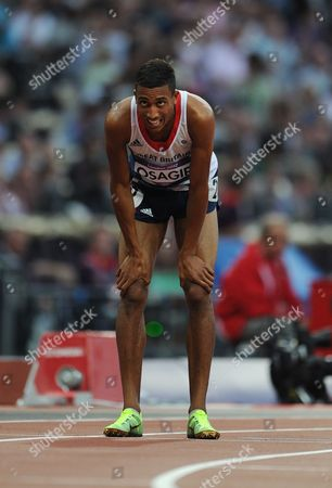 Editorial Use Only This Material Is Provided Under The Terms Of The 2012 Nopp Agreement. Mandatory Credit Must Be Observed London 2012 Olympic Games Olympic Stadium 800m Final Men Great Britain's Andrew Osagie Finishes Last.