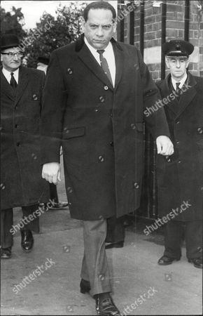Stock Picture of Band Leader Edmundo Ros Attending The Funeral Pf Jack Hylton.