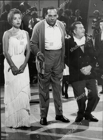 Abbe Lane With Band Leader Edmundo Ros And Xavier Cugat During Rehearsals At Electric Studios.