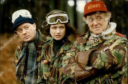 Jeff Rawle Susannah Doyle And David Swift In Tv Programme 'drop The Dead Donkey'.