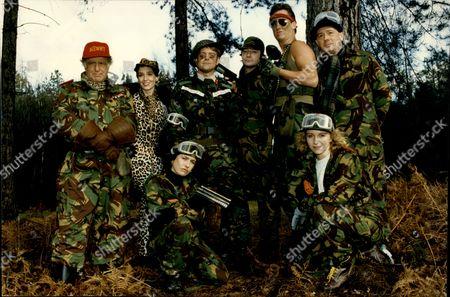 Cast Of Tv Programme 'drop The Dead Donkey'; Victoria Wicks Ingrid Lacey Susannah Doyle Stephen Tompkinson David Swift Jeff Rawle Neil Pearson And Robert Duncan.