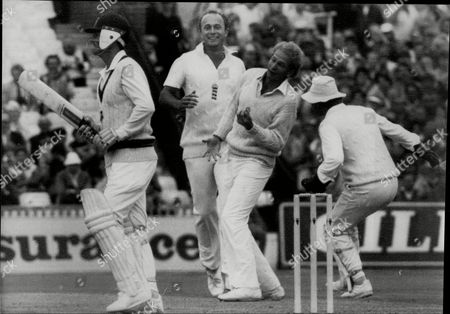 Stock Picture of Cricket: Australia Tour Of England 1985 - England V Australia 4th Test - David Gower Catches Andrew Hilditch Off Phil Edmonds At Old Trafford (date Taken Unknown).