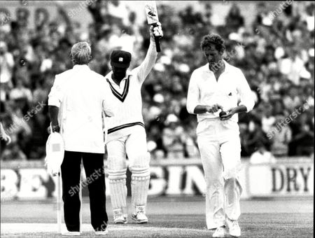 Cricket: West Indies Tour Of England 1984 Test Series - Gordon Greenidge Salutes His 200 As Bowler Pat Pocock Looks For Answers.