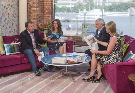 Paul Ross and Emily Dean with Eamonn Holmes and Ruth Langsford