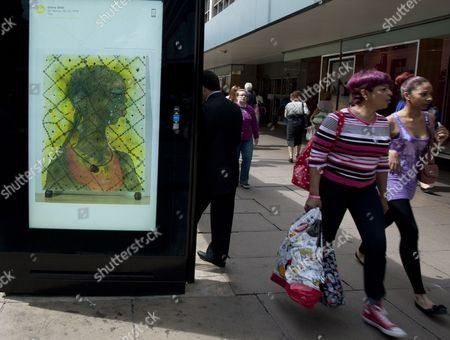 'No Woman No Cry' by Chris Ofili - poster in Oxford Street