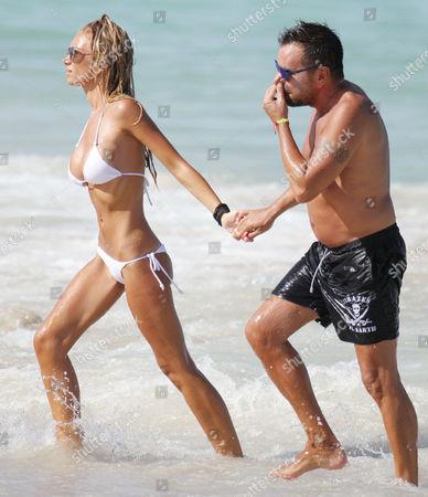 Editorial photo of Laura Cremaschi and boyfriend Andrea Perone on Miami Beach at the Setai Hotel, Miami, America - 18 Aug 2013