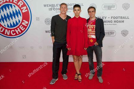 Bastian Schweinsteiger, Alina Sueggeler, Philipp Lahm