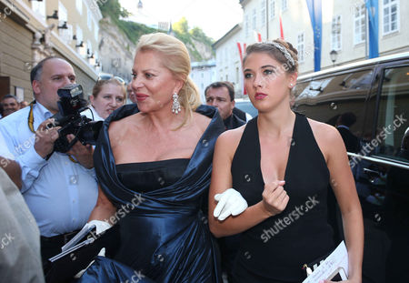 Editorial picture of 'Don Carlo' opera arrivals, Salzburg, Austria - 16 Aug 2013