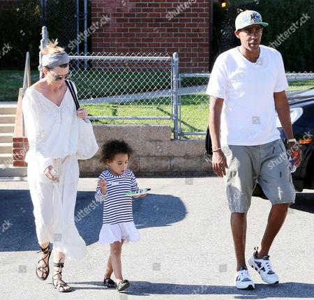 Ellen Pompeo, Chris Ivery and daughter Stella Luna Pompeo Ivery