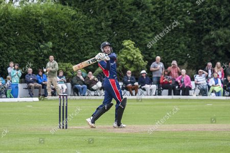Editorial image of Natwest England Cricket Legends v Hawk Green CC charity cricket match, Stockport, Britain - 19 Aug 2013