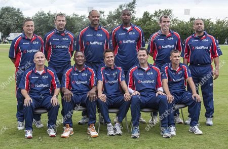 Natwest England Cricket Legends - (L-R back) Mark Ealham, Chris Schofield, Dean Headley, Alex Tudor, Mal Loye, Adam Hollioake, (L-R front) Neil Fairbrother, Devon Malcolm, Michael Vaughan, Martin Bicknell and Richard Blakey