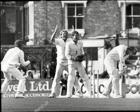 Cricket: New Zealand Tour Of England 1986 - England V New Zealand Test Match - John Wright Bruce French Ian Botham Phil Edmonds.