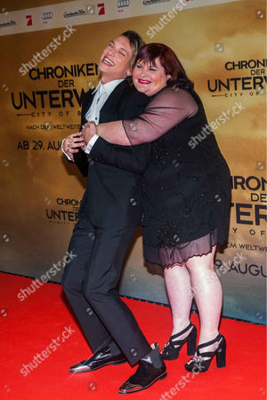 Jamie Campbell Bower and Cassandra Clare