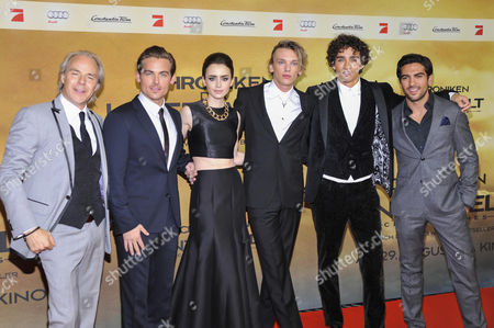 Stock Picture of Harald Zwart, Kevin Zegers, Lily Collins, Jamie Campbell Bower, Robert Sheehan and Elyas M'Barek