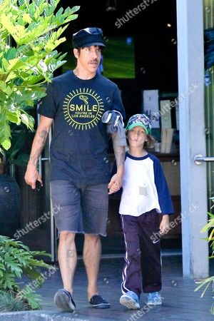 Stock Image of Anthony Kiedis and son Everly Bear Kiedis