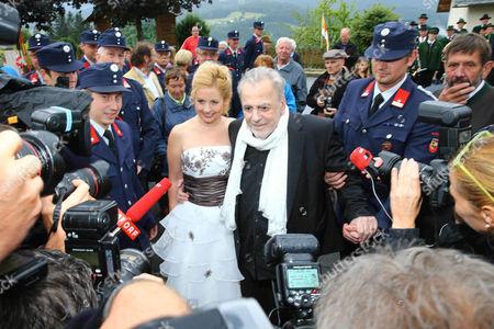 Maximilian Schell with wife Iva Mihanovic