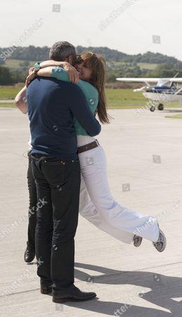 Carol successfully completes her first solo flight - Carol Vorderman and boyfriend Graham Duff