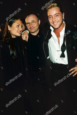 Orianne Cevey, Phil Collins and Michael Flatley