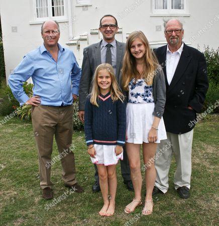 Randolph Churchill, David Kitley (New Holmwood), Anthony Churchill, Alice and Serena Churchill