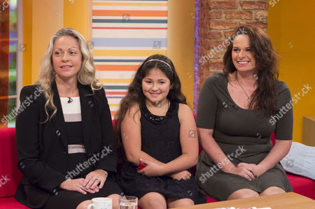 Tiffany Genish with daughter Myah and Sally Windsor
