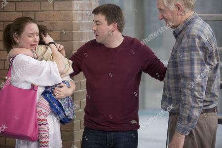 Zoe Telford as Michelle, Lucy Cronin as Lucy, Graeme Hawley as Martin and Duncan Preston as Ken.