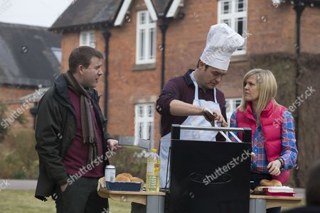 Graeme Hawley as Martin, Stewart Wright as Kevin and Ashley Jensen as Sarah.