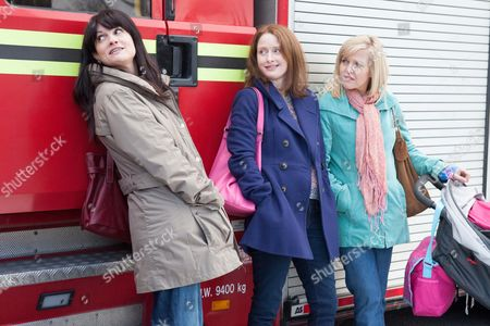 Stock Picture of Niky Wardley as Heather, Zoe Telford as Michele and Ashley Jensen as Sarah