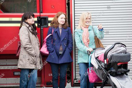 Niky Wardley as Heather, Zoe Telford as Michele and Ashley Jensen as Sarah