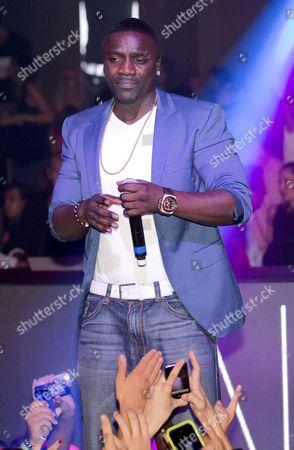 Editorial image of Akon performs at Gotha Club nightclub, Cannes, France - 24 Aug 2013