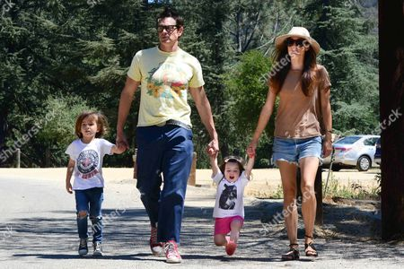 Johnny Knoxville and Naomi Nelson with daughter Arlo Clapp and son Rocko Akira Clapp