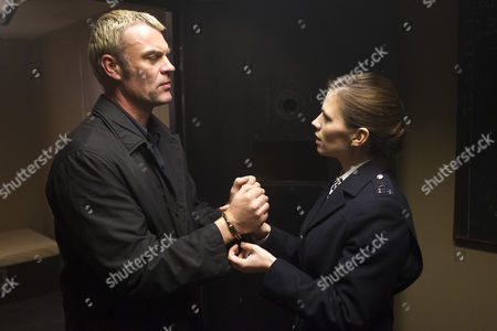 Stock Image of Julian Lewis Jones as Mike Holland. And Hayley Atwell as Denise Woods