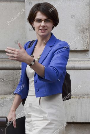 Chloe Smith minister for political and constitutional reform leaving the Cabinet office this lunchtime