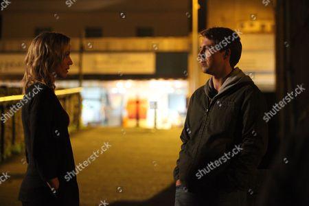 Simone McAullay as Becca Fisher and Andrew Buchan as Mark Latimer.