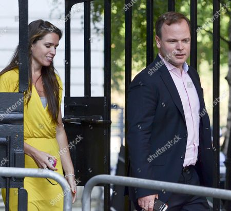 Editorial image of Craig Oliver and Susie Squire, Downing Street, London, Britain - 28 Aug 2013