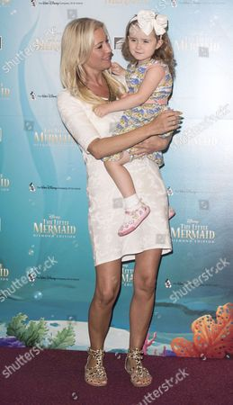 Denise Van Outen with daugher Betsy Mead