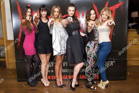Aliya Williams, Wendy Glenn, Sharni Vinson, Kendra Andrews, Becca Sopher & Lorna Pegler