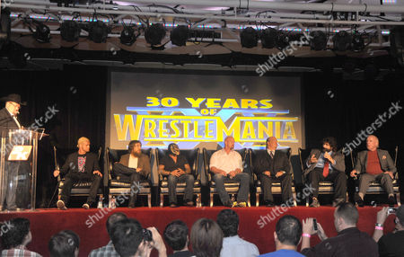 Dolph Ziggler, Daniel Bryan, Stone Cold Steve Austin, Paul Heyman, Mick Foley and Richard Fliehr