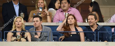 Megan Hilty, Brian Gallagher Debra Messing and Will Chase