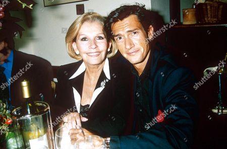 LUISA MATTIOLI WITH SON GEOFFREY MOORE