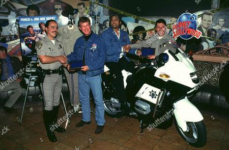 Stock Image of LARRY WILCOX, ERIC ESTRADA, DAVID RAMSEY, AND PAUL KORVER
