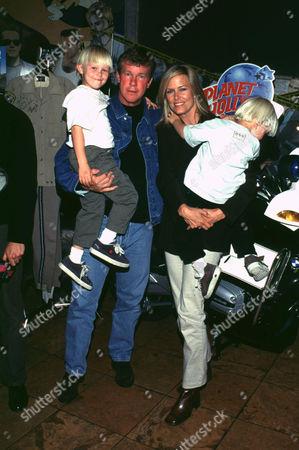LARRY WILCOX WITH WIFE & KIDS
