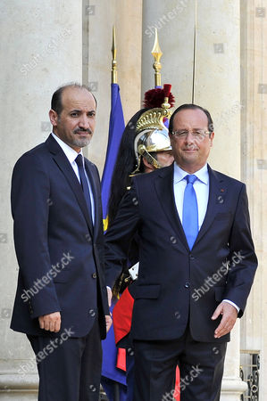 Editorial photo of Francois Hollande welcomes Ahmed Jarba of Syria, Paris, France - 31 Aug 2013