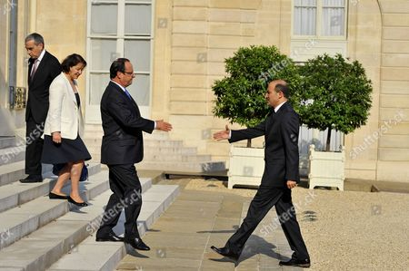 Editorial image of Francois Hollande welcomes Ahmed Jarba of Syria, Paris, France - 31 Aug 2013